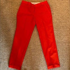 Beautiful Jcrew Red Wool Pants